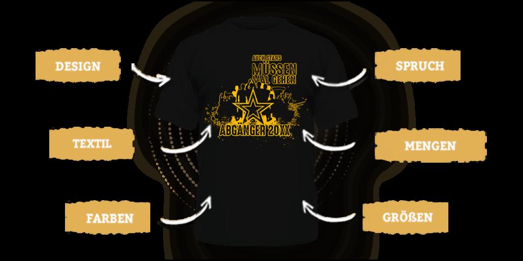 Abschluss-Shirts individuell gestalten